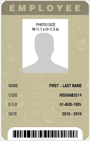 8 Best Professional Design Vertical Id Cards Id Card Template
