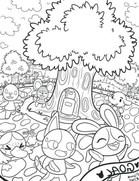 Animal Crossing New Leaf Coloring Pages Collection In 2020 Leaf Coloring Page Coloring Pages Animal Crossing