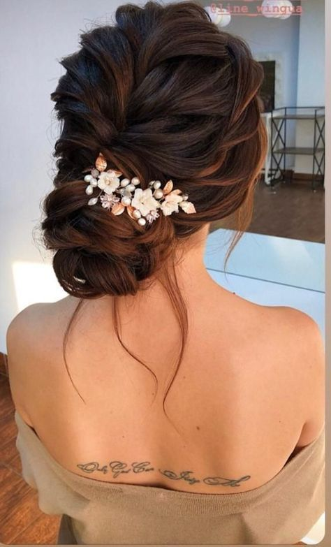 Wedding Hair Pieces, Long Hair Wedding Styles, Wedding Hairstyles For Long Hair, Long Hair Styles, Bridal Party Hairstyles, Hairstyles For Weddings Bridesmaid, Rustic Wedding Hairstyles, Modern Hairstyles, Hair For Prom