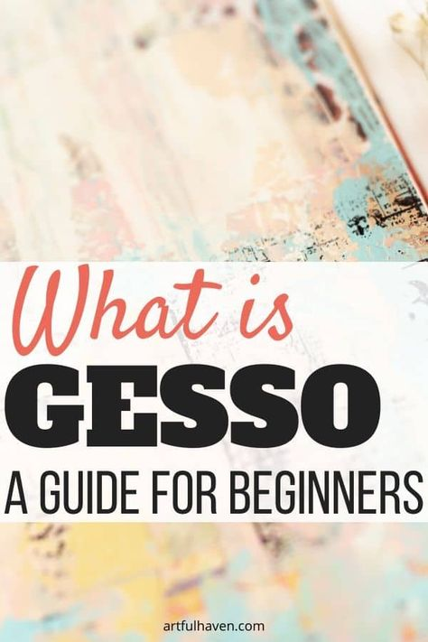 A beginner's guide on gesso for art journaling. Find out answers to burning questions about gesso, so you can see which gesso is the right for you. Art Journal Pages, Art Journaling, Art Journal Backgrounds, Art Journal Prompts, Journals, Gel Medium, Medium Art, Mixed Media Techniques, Art Journal Techniques