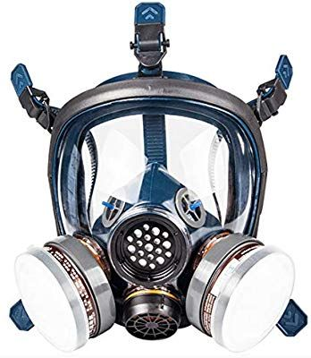 Organic Vapor Respirator Full Face Gas Mask With Double Activated