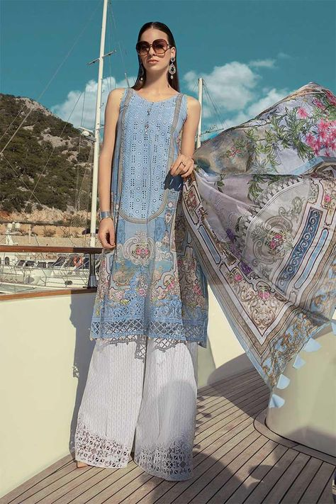 95cf43f7b0 Maria B Lawn Collection 2019 Best Pakistani Designer Summer Dresses