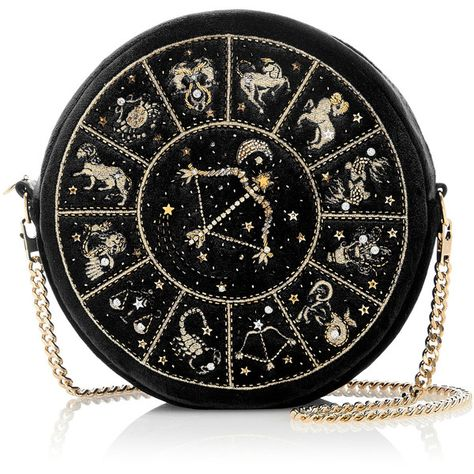 Presenting this seasons new M'O Exclusive collaboration with Preciously Paris the Horoscope Collection. This Cancer round clutch is rendered in velvet and fea… Green Handbag, Green Purse, Green Clutches, Blue Handbags, Purses And Handbags, Shoulder Purse, Shoulder Handbags, Blue Clutch, Lesage