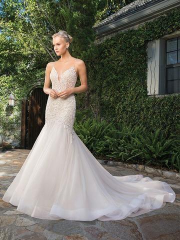 Casablanca 2359 Clara Beaded V Neckline Fit And Flare Wedding