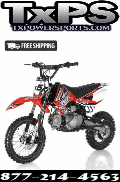 Apollo Db X5 125cc Twin Spare Tubular Frame Manual Shift Dirt Bike Txpowersports Com Apollo Dirt Bike Pit Bike 125cc Apollo