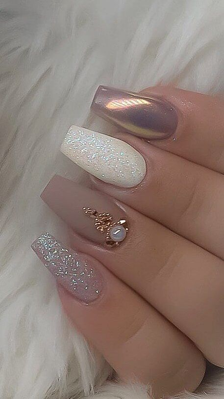 20 Fabulous Wedding Nail Designs 2020 Nail Designs For Wedding In 2020 Coffin Nails Designs Elegant Nail Art Stylish Nails