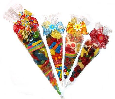 Best Big Sister Sweet Candy Cônes Bonbons Parti Sacs remplis de cadeau cône rose