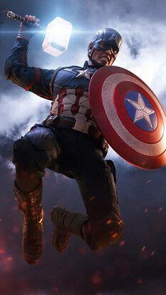 Captain America Mjolnir Hammer Shield Avengers Endgame 4k Hd Mobile And Desktop Wallpaper Captain America Wallpaper Marvel Comics Wallpaper Marvel Heroes
