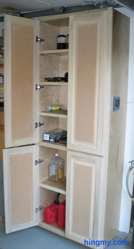 How To Build A Full Length Storage Cabinet Diy Tips From Hingmy Pinterest Cabinets Garage And