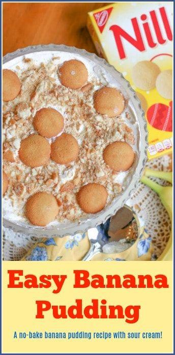 No Bake Banana Pudding With Sour Cream Recipe Banana Pudding Recipe With Sour Cream Banana Pudding No Bake Banana Pudding