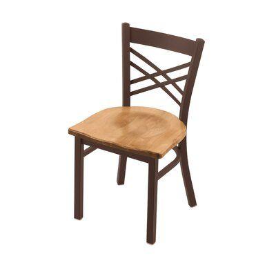 Alcott Hill Daniela Solid Wood Dining Chair Base Finish Bronze