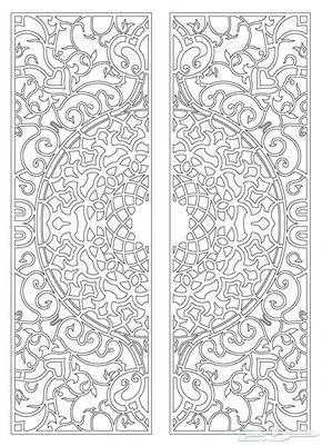 رسوم زخارف أبواب حديد واتس اب 0594685221 Islamic Motifs Islamic Art Pattern Persian Rug Designs