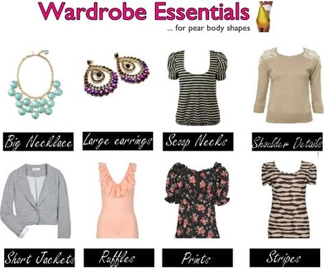 Pear body shape wardrobe essentials
