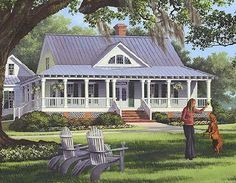 Single Story Farmhouse With Wrap Around Porch