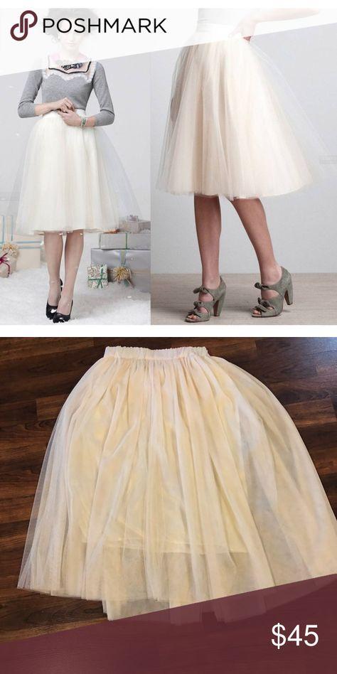 b07c88de41d9 Spotted while shopping on Poshmark: Cream Color Tulle Skirt! #poshmark # fashion #shopping #style #Dresses & Skirts
