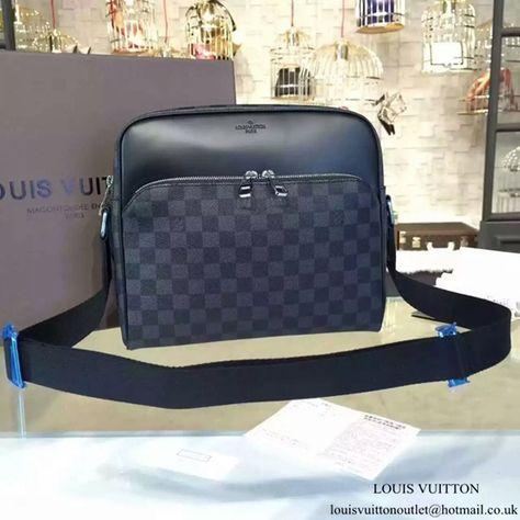 31f7f1037592 Louis Vuitton N41408 Dayton Reporter PM Messenger Bag Damier Graphite Canvas