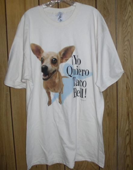 Vintage 1998 Taco Bell T-Shirt Chihuahua Men/'s Large Short Sleeve Tee L