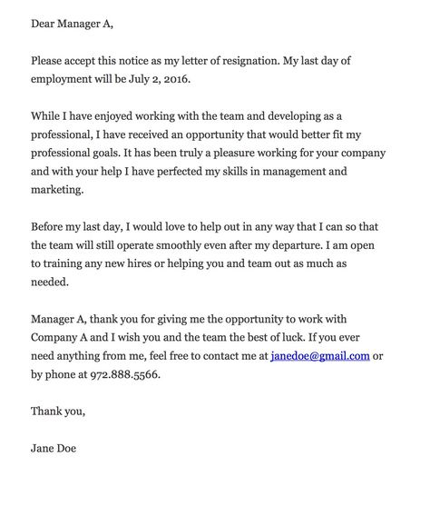 The above are some standard formal resignation letter samples, which - new resignation letter format for managing director
