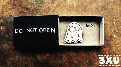 Cute Halloween Card/ Do Not Open Card/ Ghost Card/ Halloween