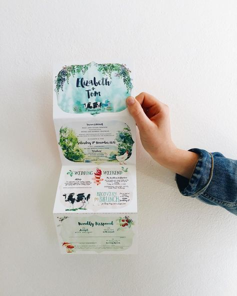 The gift that keeps on giving! Connected paper designs would certainly make a statement, and serve as a fun event invitation!