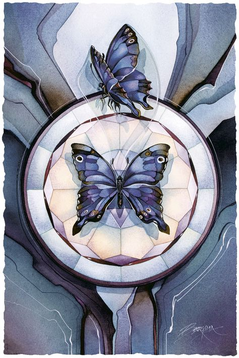 Bergsma Gallery Press::Paintings::Insects & Amphibians::Butterflies::The Butterfly Within - Prints