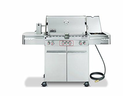 Weber 2840301 Summit S 470 Natural Gas Tuck Away Rotisserie Grill Stainless Steel Review Natural Gas Grill Gas Grill Rotisserie Grill