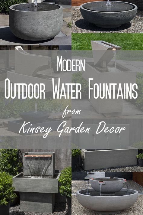 Contemporary Patio Water Features