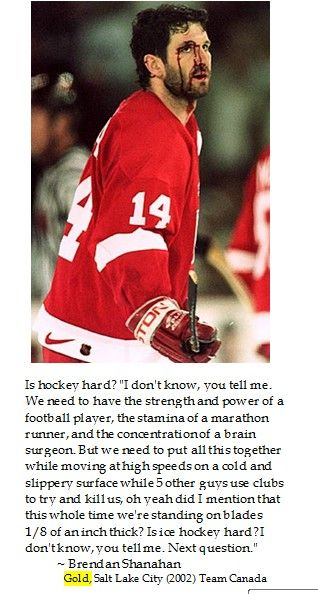@NHLShanahan tells truths on #hockey to be remembered at #Sochi2014 #WinterOlympics