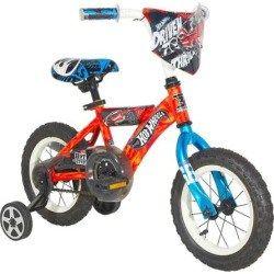 Boys Hot Wheels 12 Inch Wheel Turbospoke Bike With Training Wheels