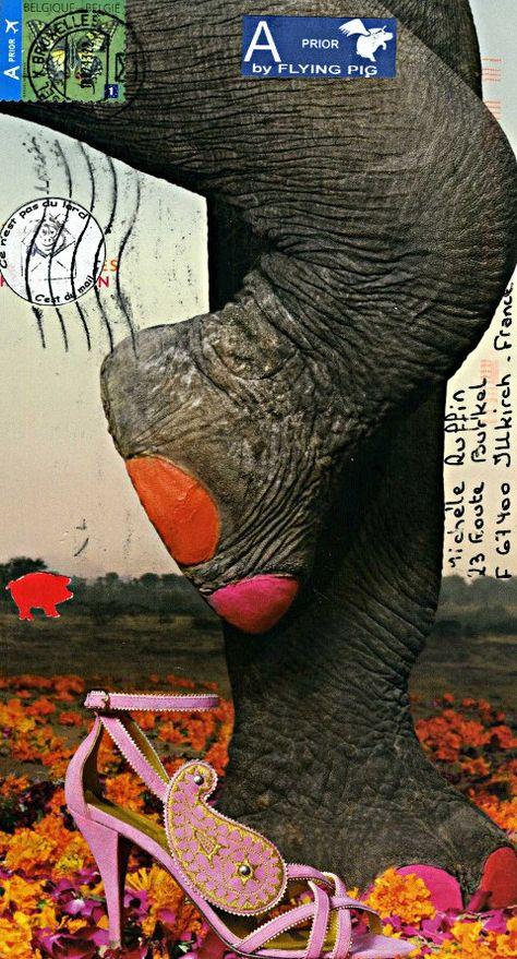 Barrissements Le petit blog pachydermique d'Elephant Gris. Mail Art #mailart #snailmail #happymail