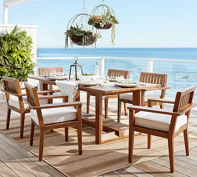 Jamie Durie Table Amp Chair Dining Set Potterybarn Outdoor