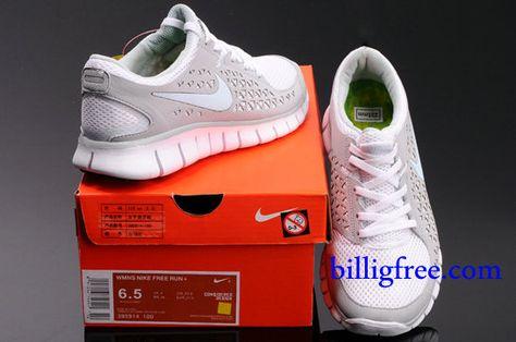 Billig Schuhe Damen Nike Free Run + (Farbe:Vamp Grau,weiB