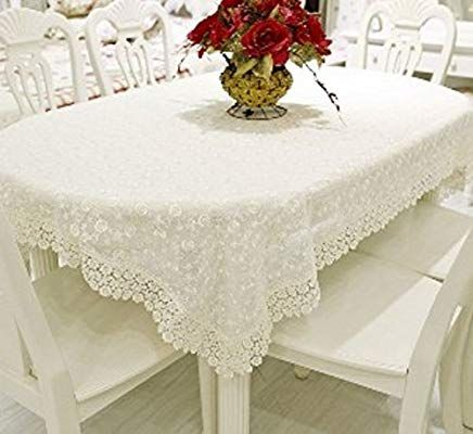 Amazon Com White Lace Tablecloth Dining Room Living Room Dust