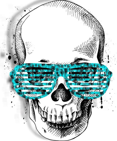 Skull with Pink Sunglasses