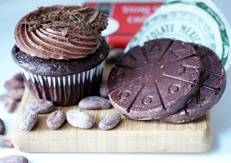 Vegan Guajillo Chili Chocolate Mexicano Cupcakes – Taza Chocolate