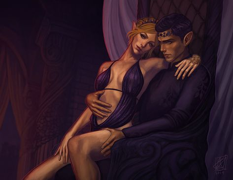 He led me the few steps onto the dais—to the throne. He sat, smiling faintly at his monstrous court. He owned every inch of the throne. These people. And with a tug on my waist, he perched me on his...