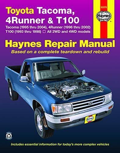 Pdf Download Toyota Tacoma 4runner T100 93 04 Haynes Repair Manual Ebook Pdf Download Read Audibook Toyota Tacoma Repair Manuals 4runner
