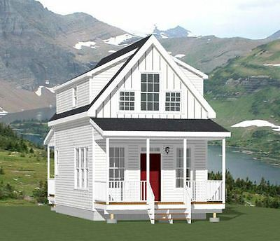 16x20 Tiny House 574 Sq Ft Pdf Floor Plan Model 4b Tiny House 2 Bedroom Building Plans House Tiny House Plans
