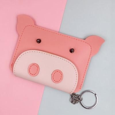 Cute Animal Small Womens Zip Faux Leather Coin Bag Case Purse Clutch Wallet TYPE