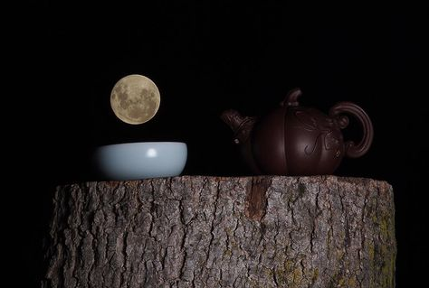 Tea time under the moon in New Zealand - beautiful photo by YaYa