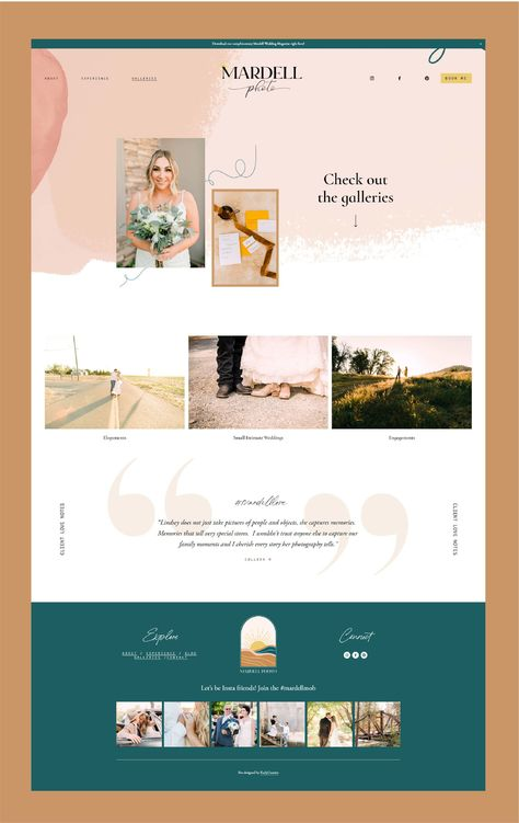 Branding + Web Design for wedding photographer by Kurly Creative