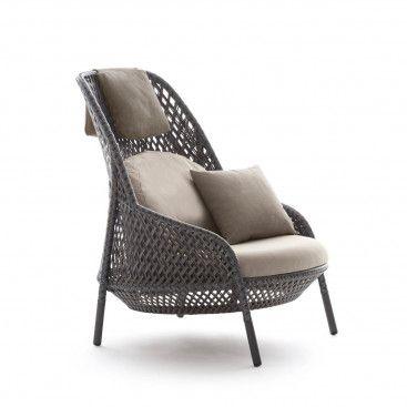 Dedon Ahnda Loungesessel Hochlehner Gartenmöbeldesign