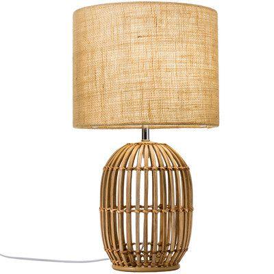 54cm Natural Havana Rattan Table Lamp