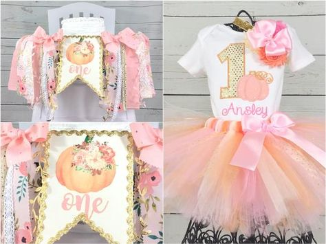 Pumpkin Birthday Cakes, Pumpkin Birthday Parties, Pumpkin First Birthday, Fall Birthday, Birthday Ideas, 1st Birthday Cake Smash, Baby Girl First Birthday, 1st Birthday Outfits, Birthday Tutu