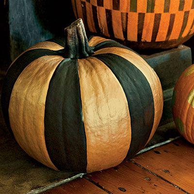 Painted pumpkins: stripes | SouthernLiving.com