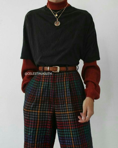 the latest fashion outfits to change your style 1 Mode Outfits, Retro Outfits, Vintage Outfits, Casual Outfits, Fashion Outfits, Fashion Hacks, 80s Fashion, Soft Grunge Outfits, Flannel Outfits