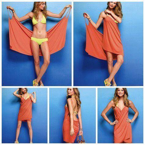8551f5b416 Como hacer un vestido rápido y fácil para la playa o la piscina ...