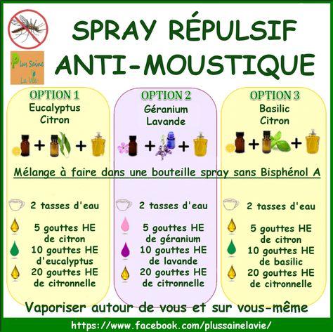 Spray répulsif naturel anti-moustique