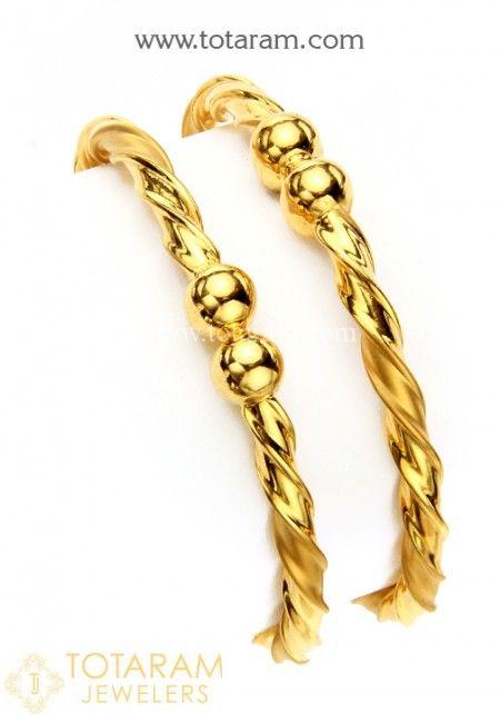 22k Baby Bangles Gold Bracelet For Girl Gold Bangles For Women