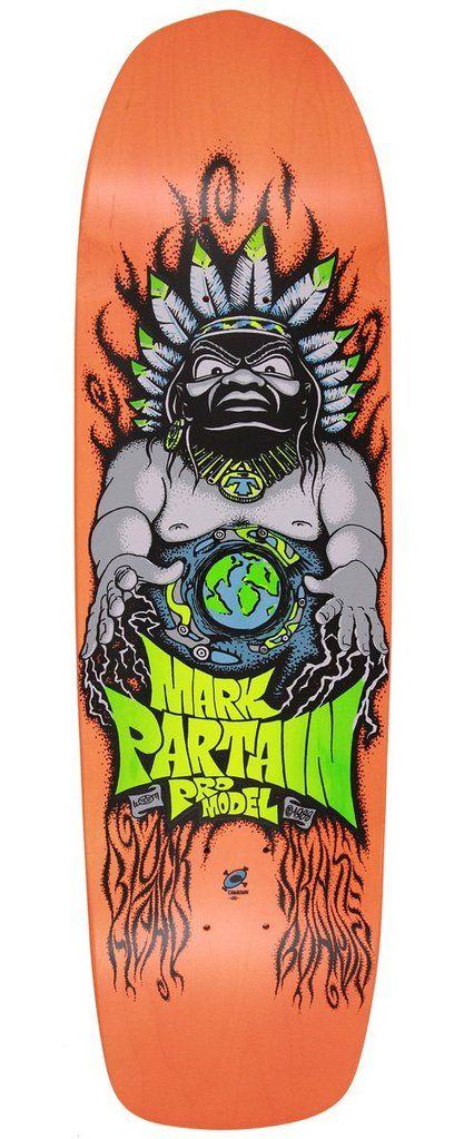 Blockhead Mark Partain Indian World Modern Shape Skateboard Deck In 2020 Skateboard Decks Skateboard Screen Printing